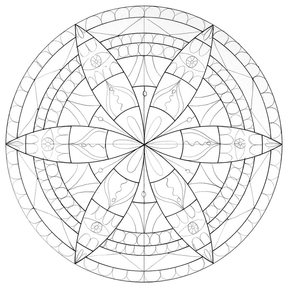 Line Drawing Mandala : How to draw a mandala with compass howtogetcreative