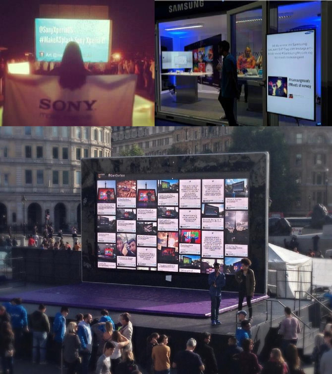 6 ideas on how to use social media walls at events. Black Bedroom Furniture Sets. Home Design Ideas