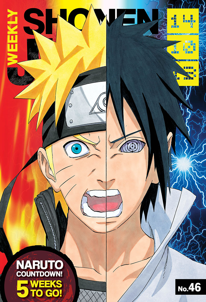 Naruto versus Sasuke! Check out the latest issue of Weekly Shonen