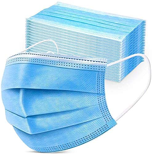 Asofcof Disposable 3-Layer Protective Face Masks (50-pack)