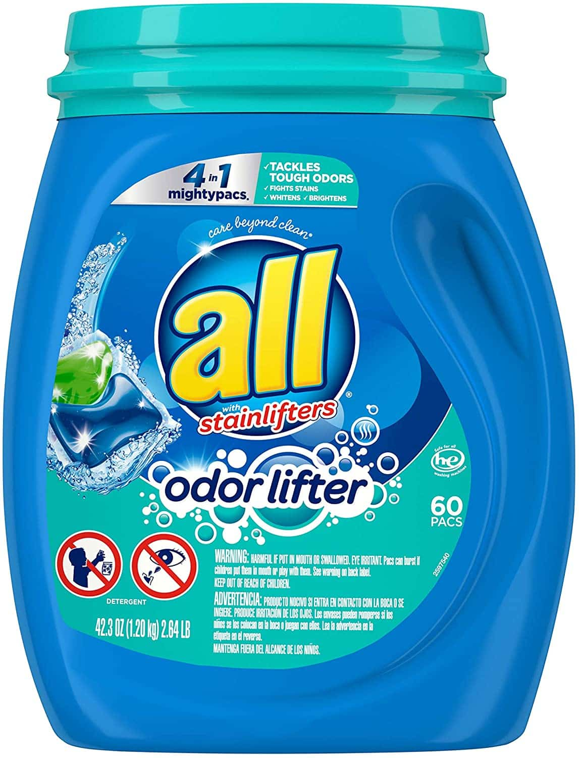 All 4-in-1 Mighty Pacs Laundry Detergent (60-Count)