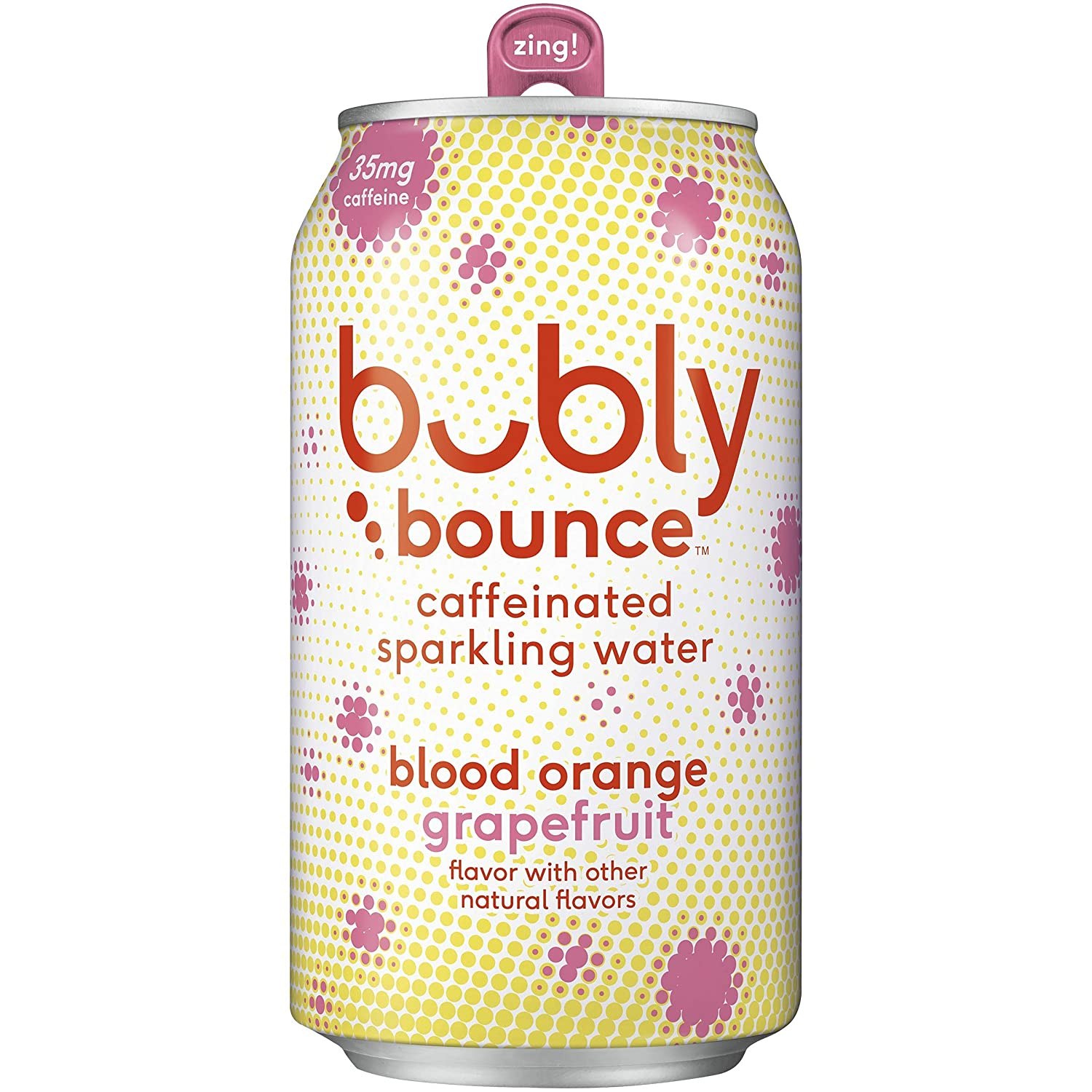 bubly Bounce Caffeinated Blood Orange Grapefruit Sparkling Water (Pack of 18)