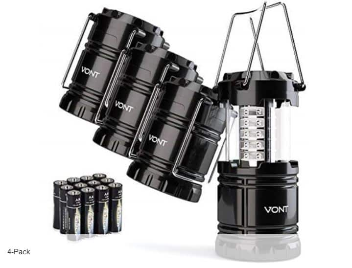 Vont LED Collapsible Lanterns 4-Pack