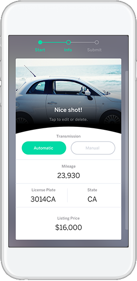 Sell your car with the Instamotor app