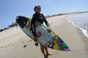 Title: Erica with Board Surfer: Hosseini, Erica Type: Portraits