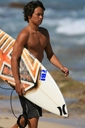 Title: Levi with Board Surfer: Gonzales, Levi Type: Portraits