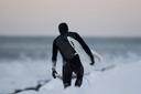 Title: Dan Thru the Snow Location: Iceland Surfer: Malloy, Dan Type: Portraits