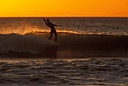 Title: Soul Arch at Sunset Surfer: Farwell, Steve Type: Longboard