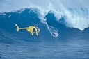 Title: Kalama Jaws Drop with Helicopter Surfer: Kalama, Dave Type: Action
