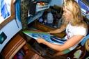 Title: Liz Stores Board Surfer: Clark, Liz Type: Portraits