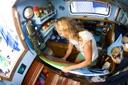 Title: Liz Boat Life Surfer: Clark, Liz Type: Portraits