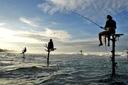 Title: Fishermen Silhouettes Location: Sri Lanka Photo Of: stock Type: Lifestyle