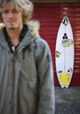 Title: Nate with Board Location: Scotland Surfer: Tyler, Nate Type: Portraits