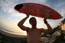 Title: Riley with Board Surfer: Metcalf, Riley Type: Portraits