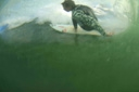 Title: Surfer Gets Barrelled Location: California Photo Of: stock Type: Underwater