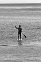 Title: Robert SUP Black and White Surfer: Weaver, Robert Type: Action