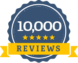 Best Company badge 10,000 Reviews