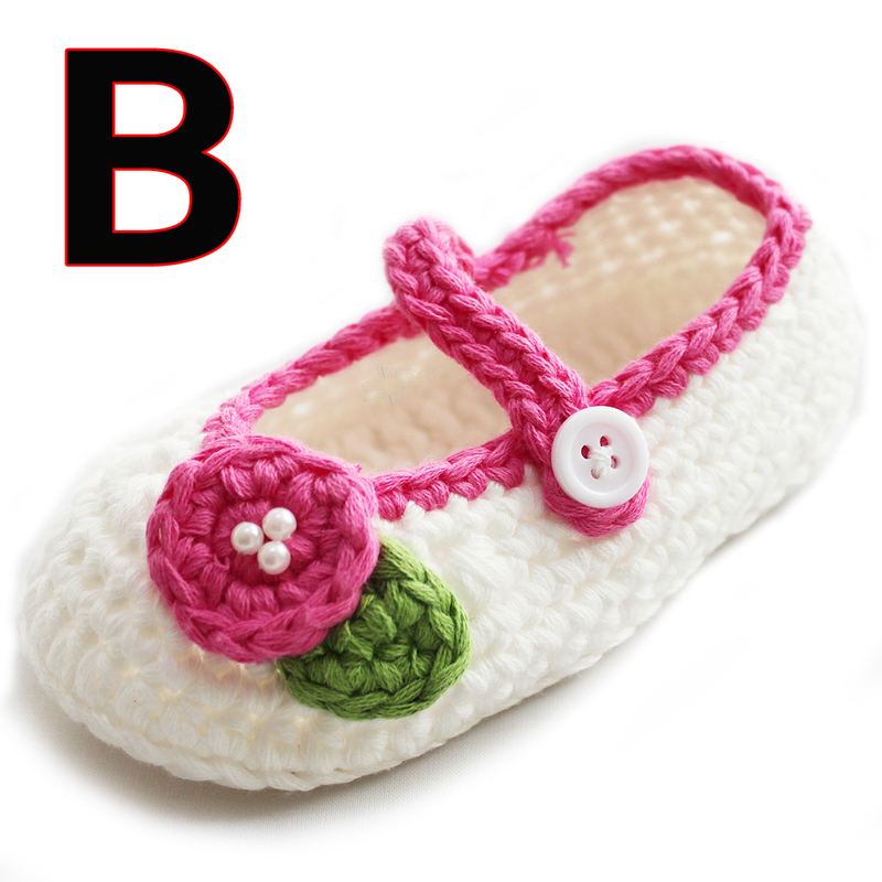 Handmade Infant Toddler Baby Girls Wool Princess Shoes Age 3 6 6 9 9 12 Months