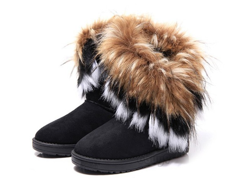 New Hot Women Autumn Winter Snow Boots Ankle Boots Warm Faux Fur Shoes 3 Colors