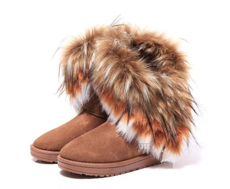 New Hot Women Autumn Winter Snow Boots Ankle Boots Warm Faux Fur Shoes 3 Colors