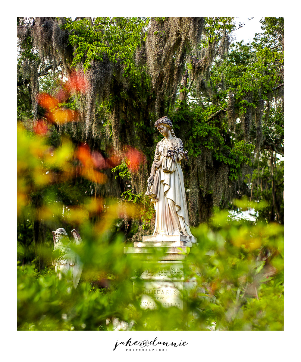 A beautiful statue we saw in the cemetery on our trip to Savannah