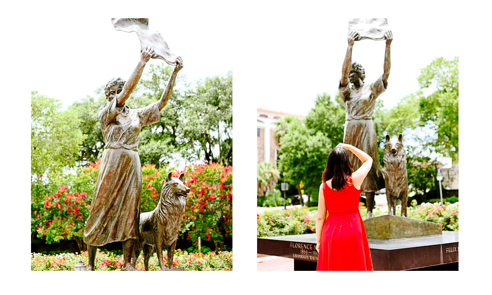 Savannah is full of beautiful statues commemorating the city's history. It's good photography and educational.