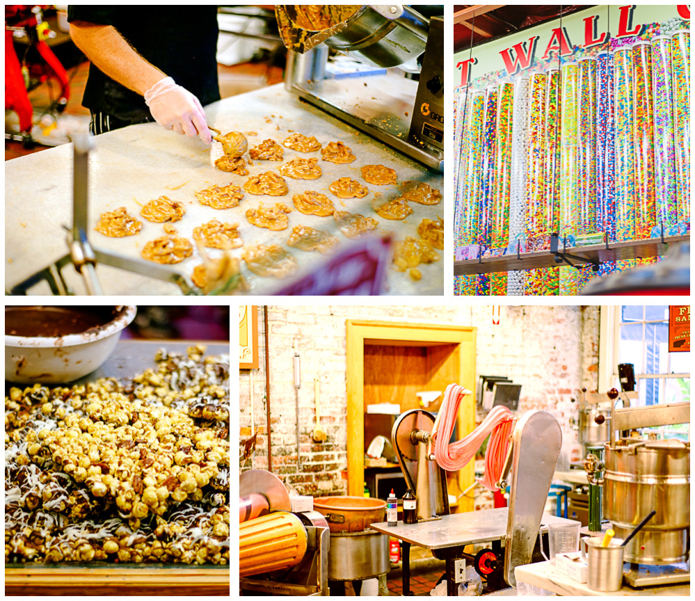 We checked out a candy store and took some photos of candy being made