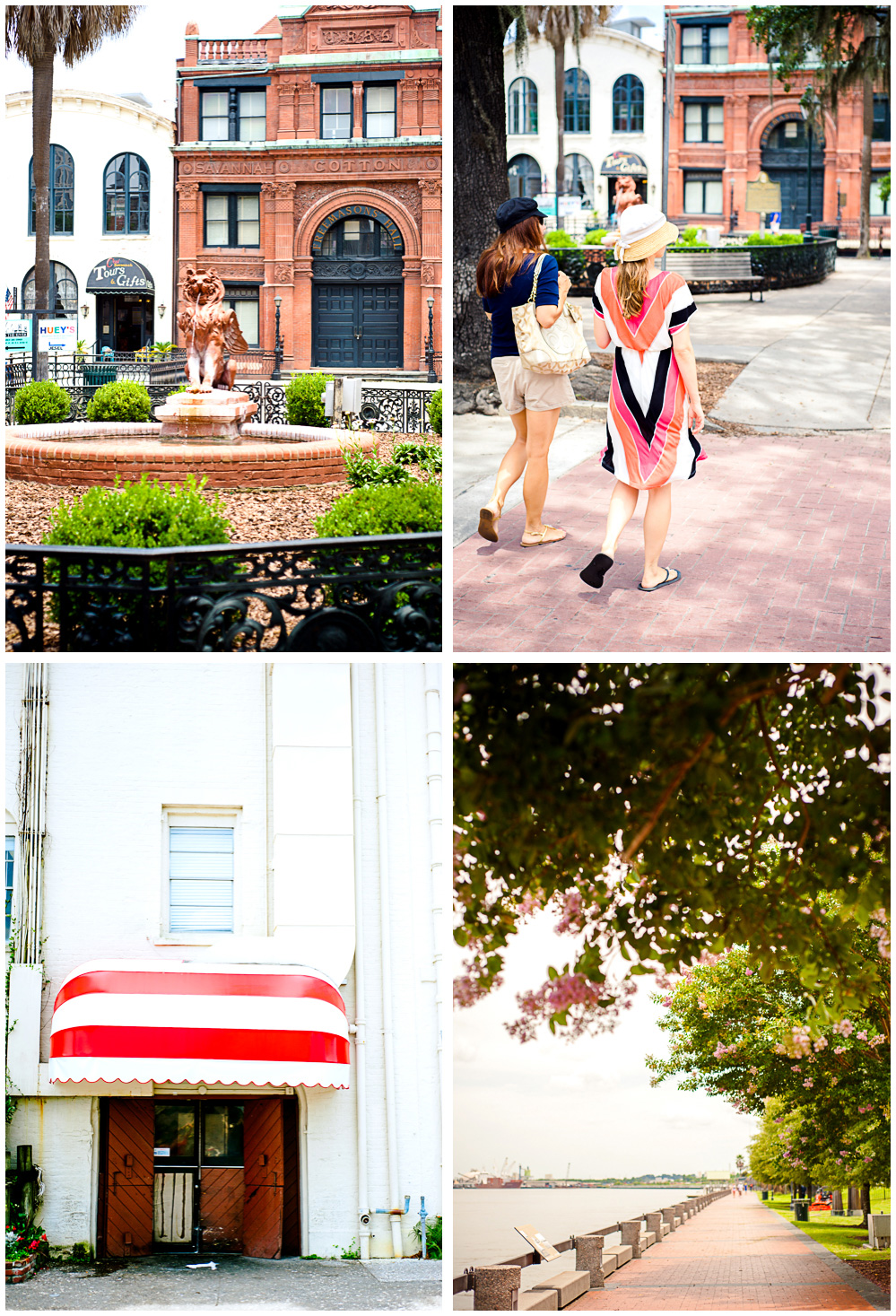 a bunch of travel photos of scenery we saw on our first day in Savannah