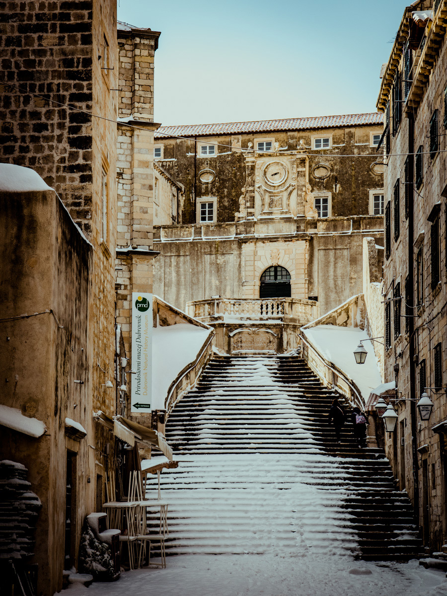 We felt lucky that our winter in Dubrovnik featured snow.