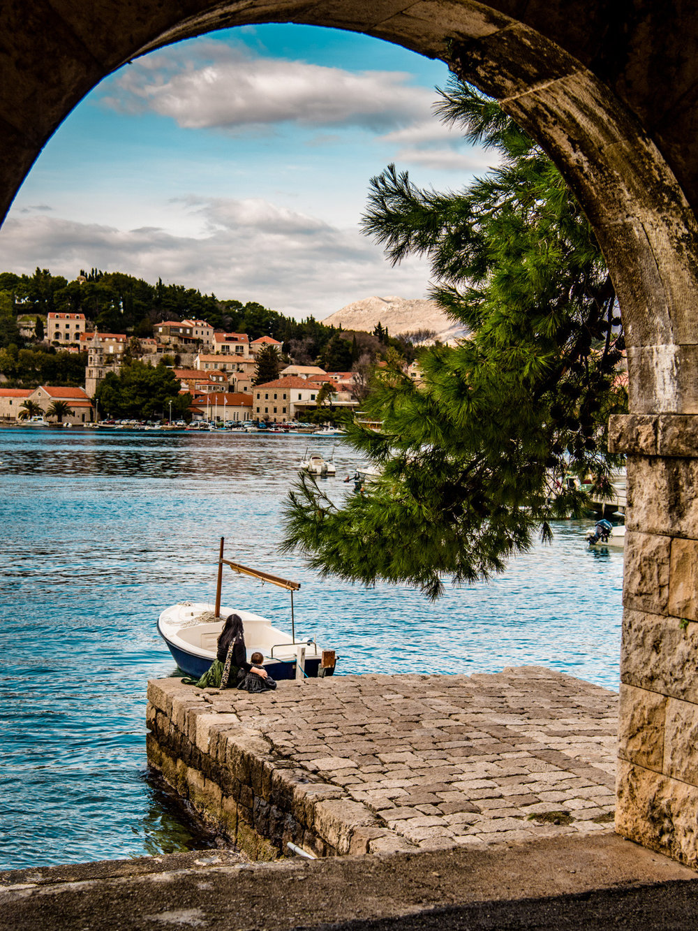 One of many breathtaking views in Cavtat, Croatia - our favorite day trip from Dubrovnik.