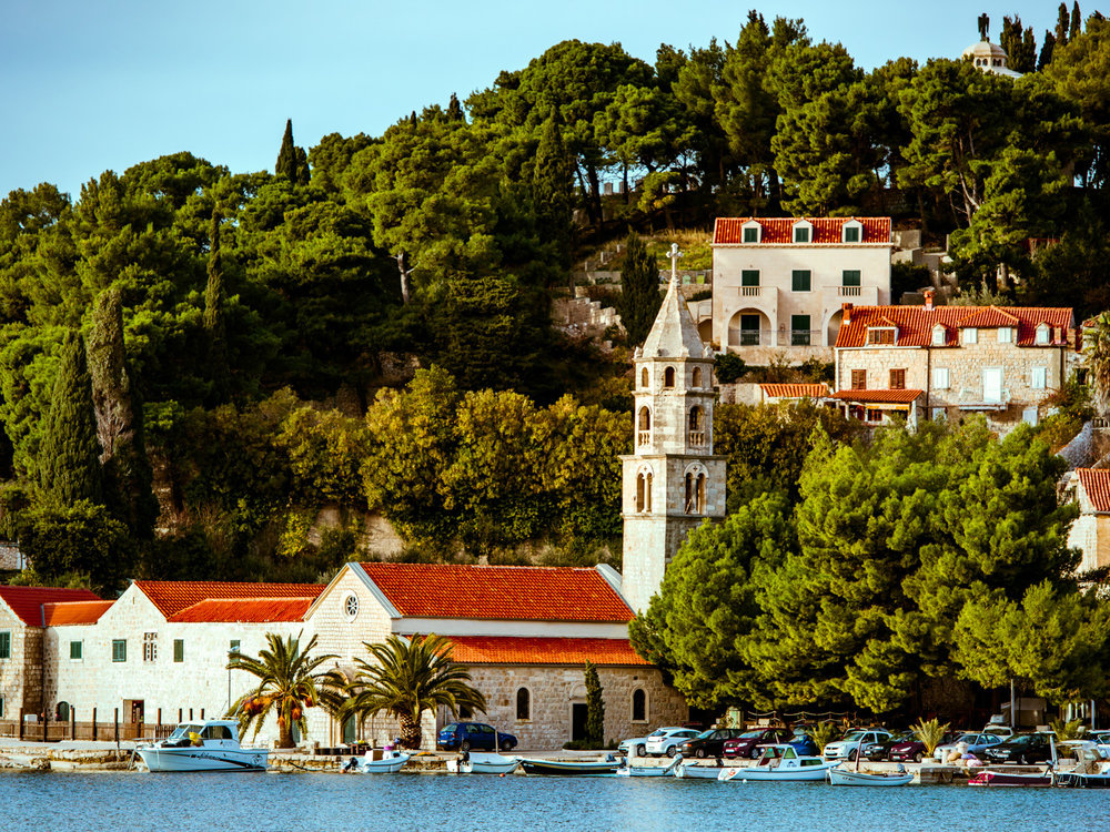 A church over the water near Cavtat, Croatia.