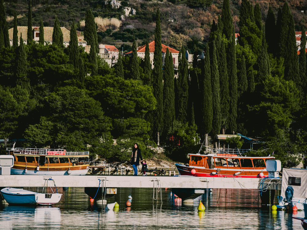 Exploring the docks in Cavtat, Croatia on a day trip from Dubrovnik.