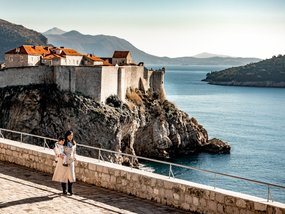Fort lovrijenac provides the best vistas of Dubrovnik Croatia's city walls.