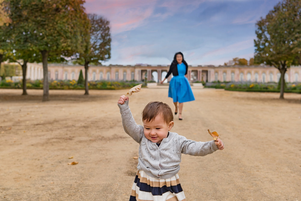 Being a kid in Versailles.