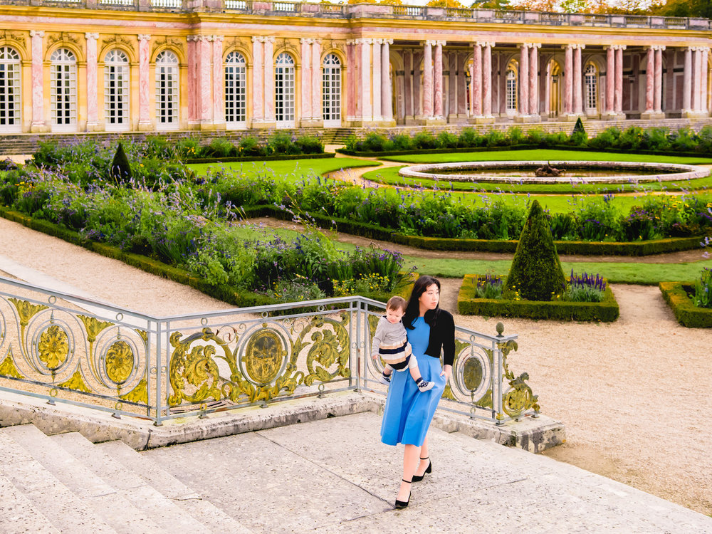 Mary Antoinette's palace and garden in Versailles.