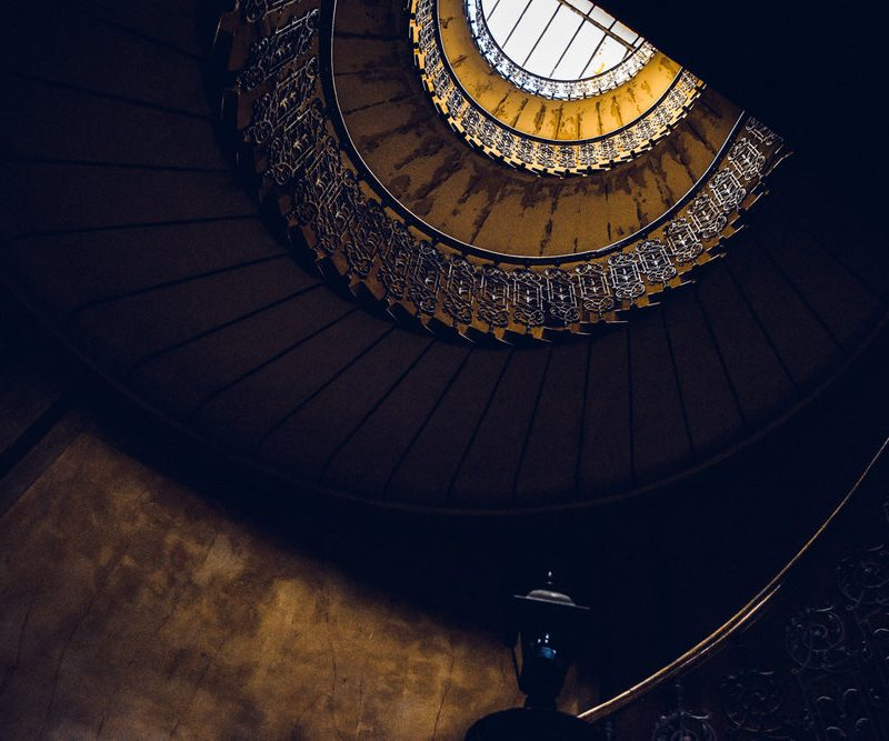 Looking up the most beautiful staircase we found in Split, Croatia.