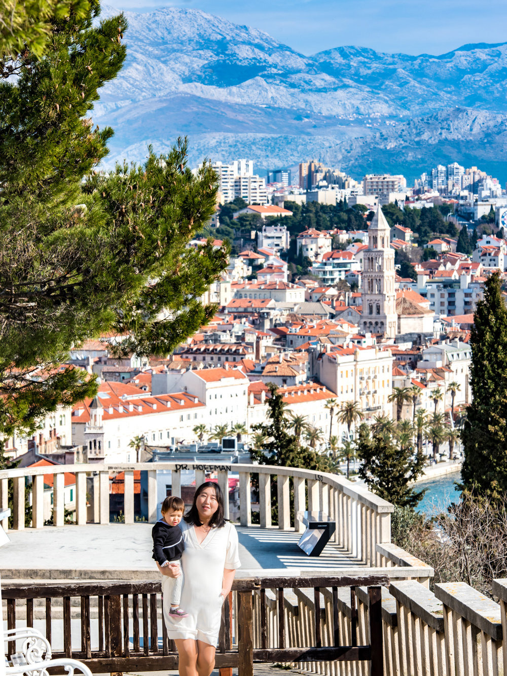 Looking down on Split, Croatia from Marjan Park.