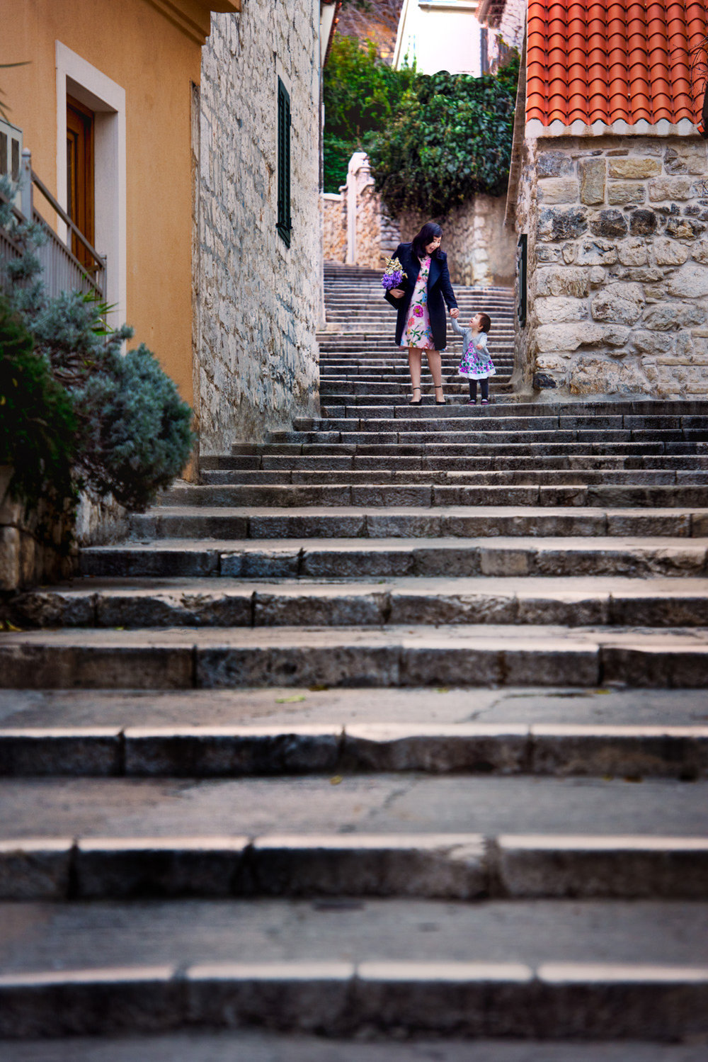 A giant flight of stairs in Split, Croatia.