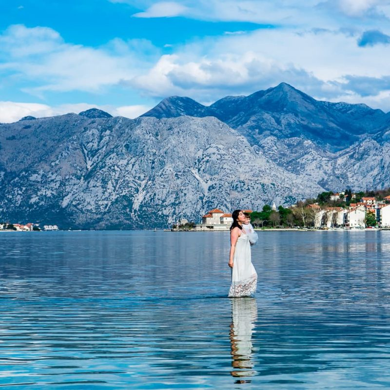 Walking on Water, the bay of Kotor