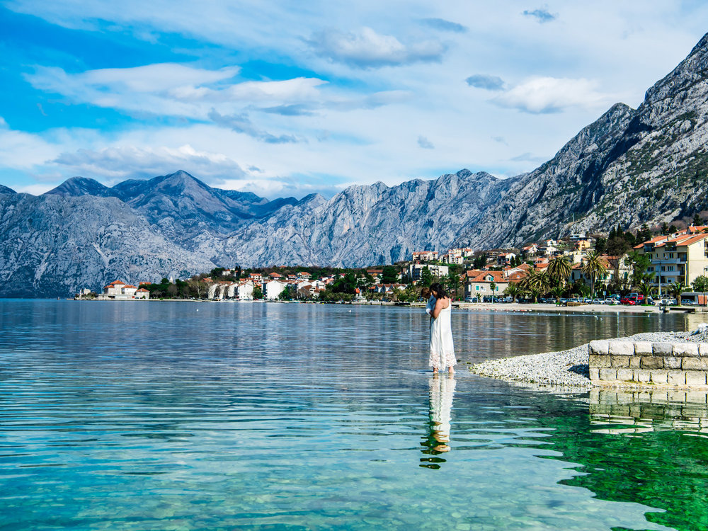 The best place to walk into the Bay of Kotor.