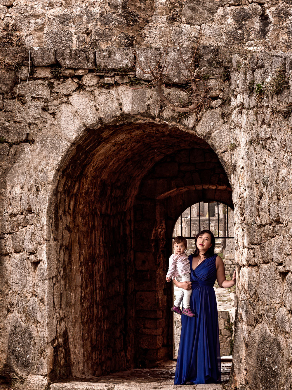 Emerging from a gate in Split Croatia's Klis Fortress.