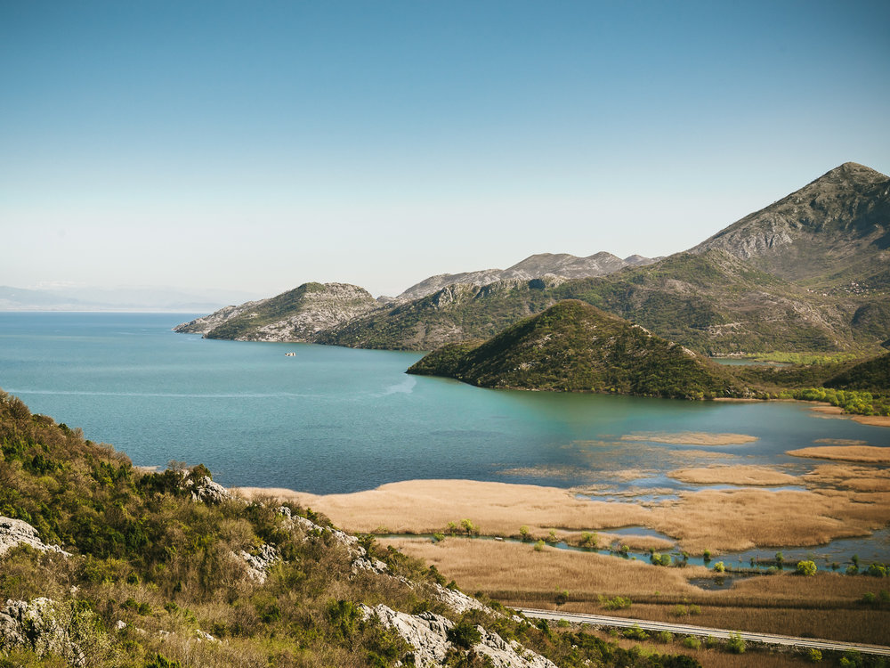 A great view of Lake Skadar from the mountain top we visited with Meanderbug.
