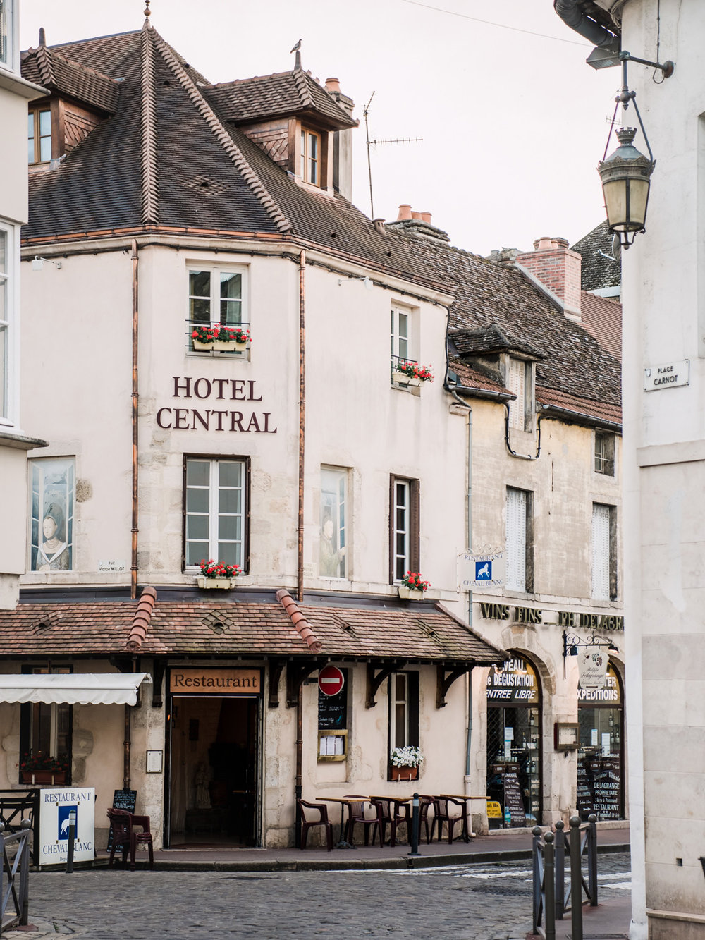 Hotel Central in Beaune, France, a small town between Paris and Avignon.
