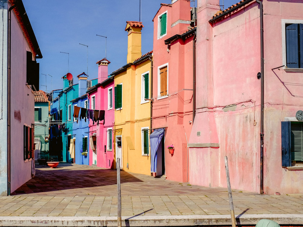 Burano had some harsh shadows late in the morning, which made the in camera adjustments for the Fujifilm x100t very useful.