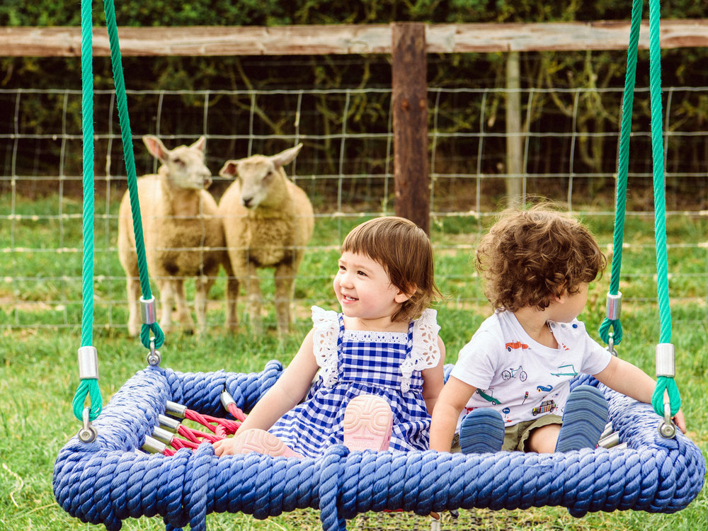 The Mini Meadows Farm was the perfect place for our families to enjoy a playdate as a break from travel.
