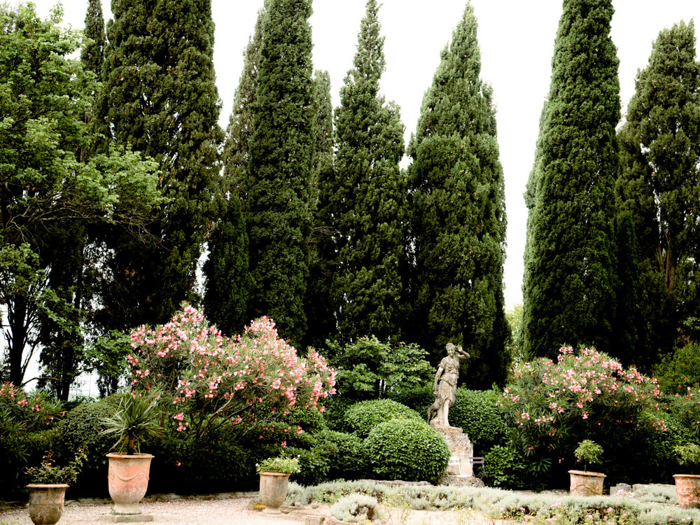 Amazing gardens from out day trip out of Avignon France in the region of Provence.