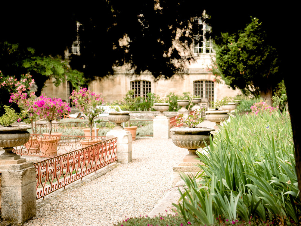 Beautiful, well manicured French gardens. A surprising treat from our Avignon Day trip.