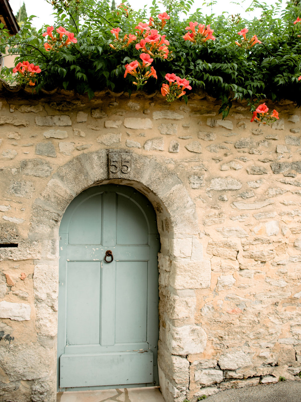 A door in a beautiful alley outside Fort Saint-andre near Avignon, France.