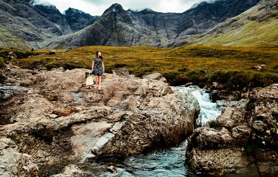 Mountains and Midges at Skye's Fairy Pools