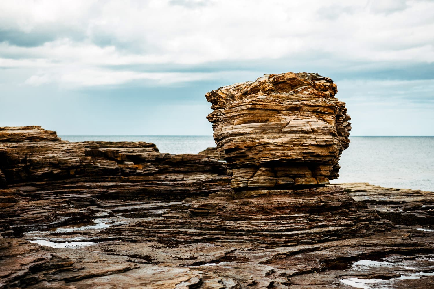 Amazing rock formations off the John muir trail in Dunbar Scotland